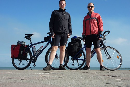 Swiss Roll - Day 1, James and Matthew at Dunkerque
