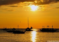Golden (D Pardo) Tags: travel sunset seascape boats yacht philippines silhouettes parasail boracay banca waterscape saiboat sunsetmania absolutelystunningscapes