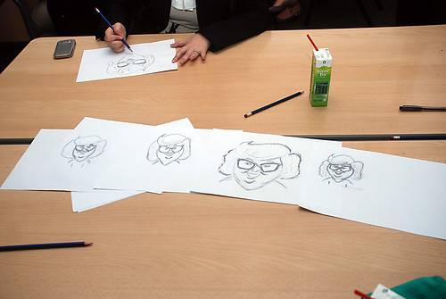 Caricature Workshop for AIA Alexandra - Day 1 - 27