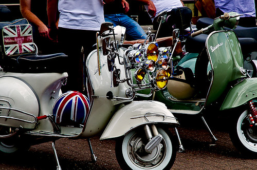 Vespas - Bankside, London