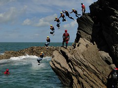 Sequencing - Coasteering, Devon (ebalch) Tags: sea cliff water jump jumping action sony devon montage burst splash sequence leaping multi tpc ilfracombe overlaid multiimage coasteering imageoverlay watermouth coasteer tombstoning dschx1 tpcu3 tpcu3l2 ebalch