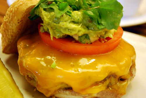 Burger with Avocado Relish