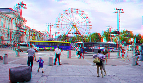 Tampere Flower week in stereo anaglyph
