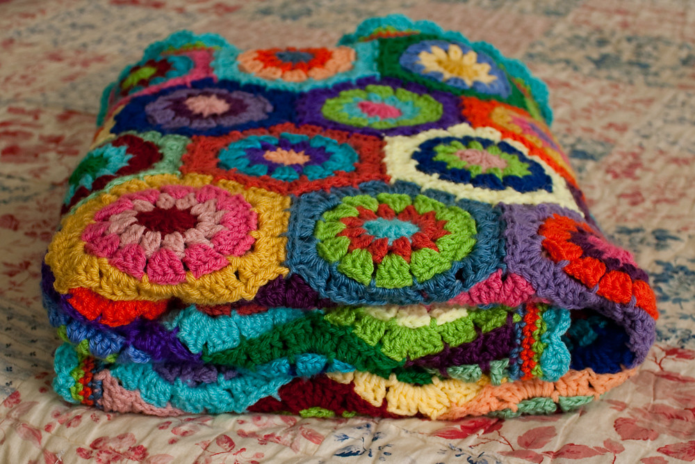 Folded Hexagon Afghan