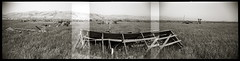 Drawbridge Nº 3 (efo) Tags: california bw panorama abandoned ghosttown drawbridge argusc3 multiframe efoa argorama