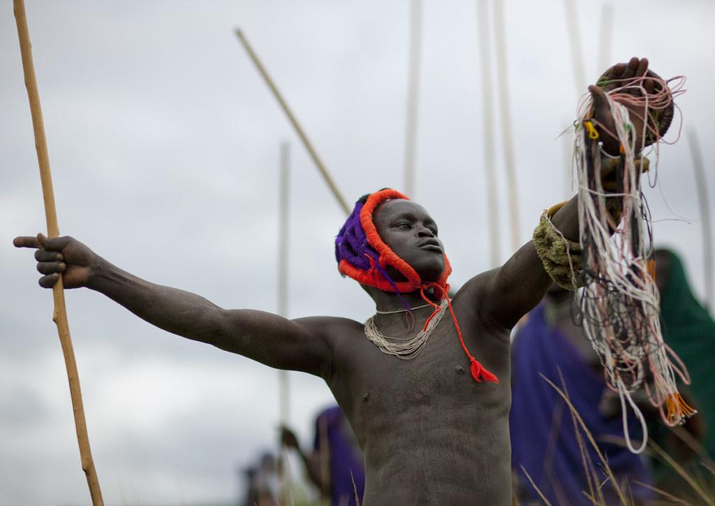 Donga stick fighting - Ethiopia