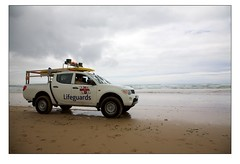 Lifeguard Vehicle at Watergate Bay (Mark-Crossfield) Tags: pictures uk greatbritain sea england rescue beach car coast photo sand watergatebay cornwall waves image photos sandy picture wave lifeguard images safety beaches vehicle watergate sandybeach rnli bigwave photosof picturesof nearnewquay imagesof watergatebayhotel markcrossfield