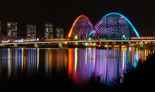 EXPO bridge in the night