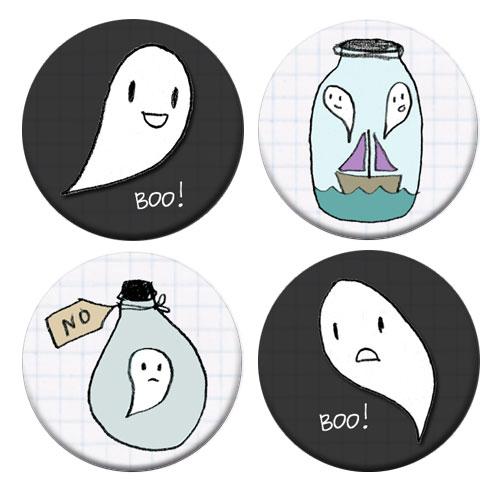 Spooky Wooky Badge Set