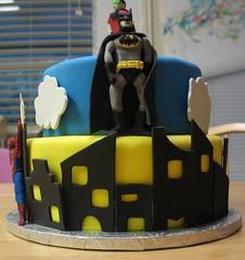 Superhero cake (anricat) Tags: cake spiderman superman superhero batman fondant gumpaste