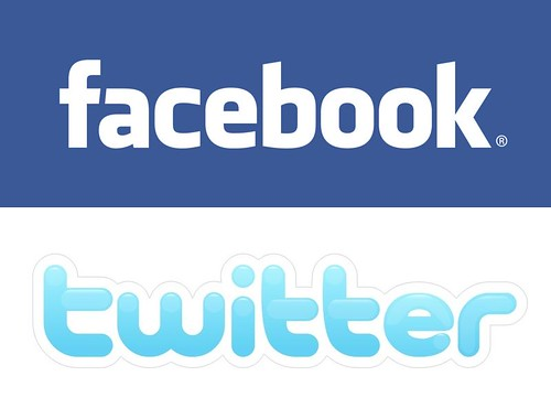 logo facebook and twitter. facebook-amp;-twitter-logo vetical