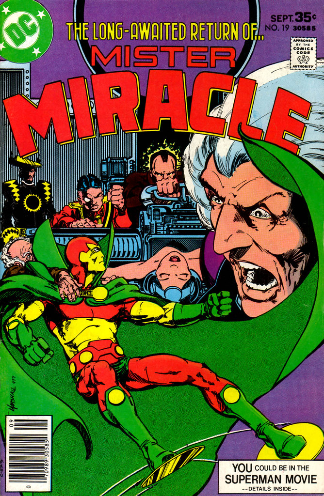 Mister Miracle 19 cover by Marshall Rogers 1977
