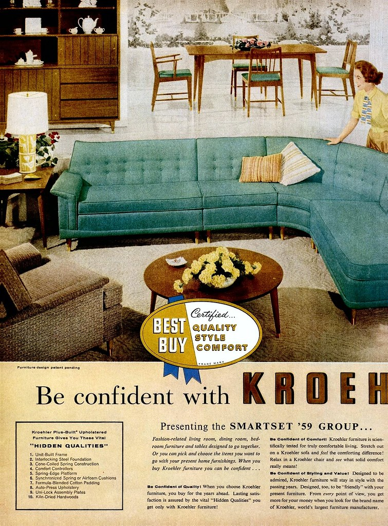 Kroehler ad (1 of 3) - 1958 (MidCentArc) Tags: vintage magazine - The World's Best Photos Of Kroehler And Vintage - Flickr Hive Mind