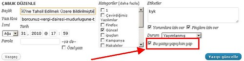 wordpress_sticky_in_turkish