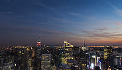 New York Sunset - Top of the Rock (DiGitALGoLD) Tags: new york nyc sunset building tower rock skyline night america buildings square nikon shot state top manhattan tripod bank center timessquare empire conde empirestatebuilding times rockefeller f28 gitzo d3 nast bankofamericatower condenastbuilding newyorktimesbuilding newyorksunset 1424 internationalpaperbuilding 1424mm