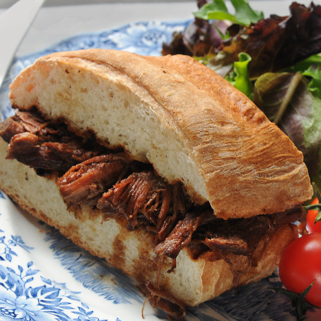 au jus sandwich made with French Bread