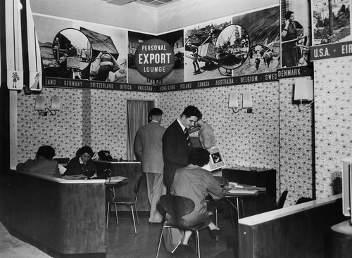 hmv 363 Oxford Street, London - Personal export lounge - early 1960s