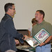 Golden Knight SSG Joseph Jones Presents Jump Certificate to Trey Ratcliff