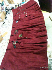 Red Military Kilt (alt_kilt) Tags: men kilt buttons military khaki custom brass options twitter microsuede altkilt altkiltcom jeaniedavan