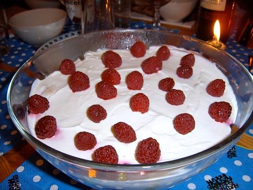 himbeer quark dessert