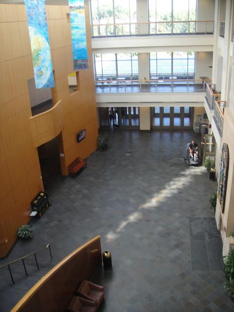 Buntrock Commons, centre névralgique que la vie du campus. Vide car nous étions dans les premiers arrivés.