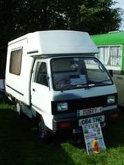 Dusty Campervan (kenjonbro) Tags: uk white dusty bedford kent suzuki 1986 camper mobilehome campervan 2010 bedfordrascal supercarry swalefestivaloftransport
