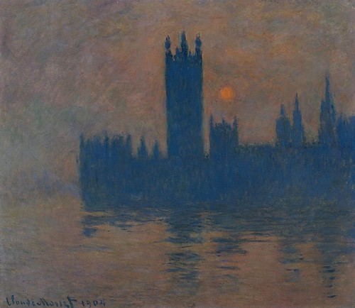Le Parlement, coucher de soleil (C Monet - W 1602) - a photo on ...