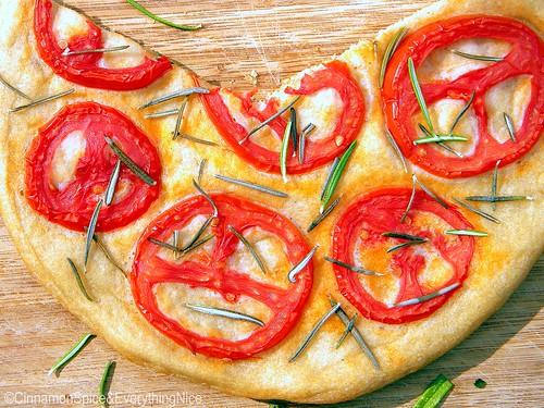 Tomato and Rosemary Focaccia Bread