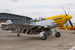 G-BTCD NORTH AMERICAN P-51D-25-NA MUSTANG 122-39608 PRIVATE - 100905 Duxford - Alan Gray - IMG_1786