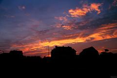 Approaching Hurricane (MelissaWrzesniewsky) Tags: blue sunset red orange silhouette yellow newjersey purple hurricane daily jerseyshore hurrican manasquan dailyshoot manasquaninlet ds445