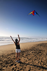San Francisco (DodogoeSLR) Tags: ocean sanfrancisco sunset kite beach water beautiful contrast u2 nikon day tank wind top air footprints cargo filter barefoot string shorts nikkor polo graduated density neutral gnd 16mmf35