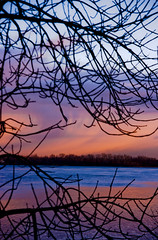 Rivire des Outaouais/Ottawa River (Phil Grondin) Tags: morning blue trees portrait sky orange color tree water clouds forest river nice eau pentax branches ottawa horizon capital plan rivire bleu ciel arbres jolie capitale nuage nuages arbre far loin couleur avant beau fort foreground ligne matin branche outaouais k20d pentaxart