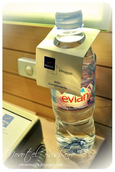 Novotel Brisbane: Free Mineral Water