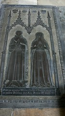 Medieval brass monument