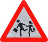 "Warning Sign ""Children"" - standard Romanian shape"