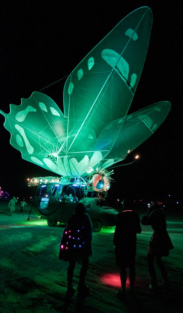Butterfly Art Car, Burning Man 2010