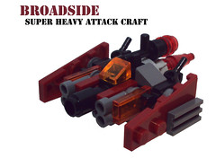 Broadside (OrangeKNight) Tags: red scale dark ship lego space attack craft micro broadside