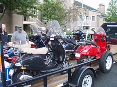 Trailer full of scooters