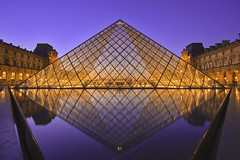 Muse du Louvre (Ali Al-Talib) Tags: blue light sunset red paris france color reflection building water colors architecture night canon buildings reflections lens landscape louis photo construction colorful flickr raw place shot angle pyramid louvre cit wide arc wideangle du muse palais colored pyramids 1020mm soe 1022mm hdr palaisdulouvre 3jpg blueness photomatix eos450d raws 3raw 1raw 450d platinumphoto louvrepalace bentalib dumusedulouvre