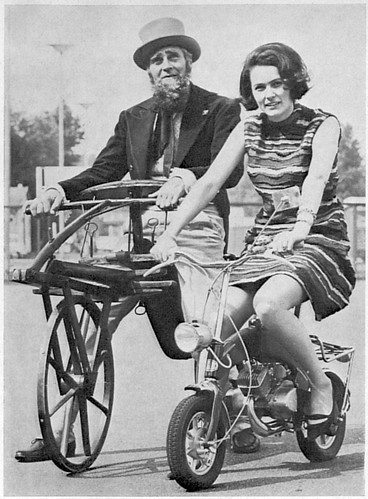 Around 1965: Hobbyhorse versus mini moped
