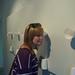 WFU student Katie Redmond listens to Rives' sound installation