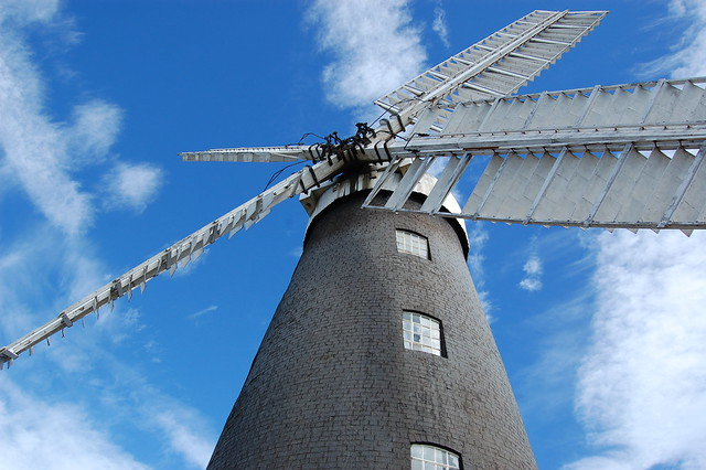 Windmill against the sky