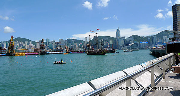 Victoria Harbour where the dragon boat carnival was held
