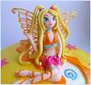 Close-up Winx Stella (Fantasticakes (Cécile)) Tags: stella yellow fairy caketopper winx sugarmodelling sugarcharacter