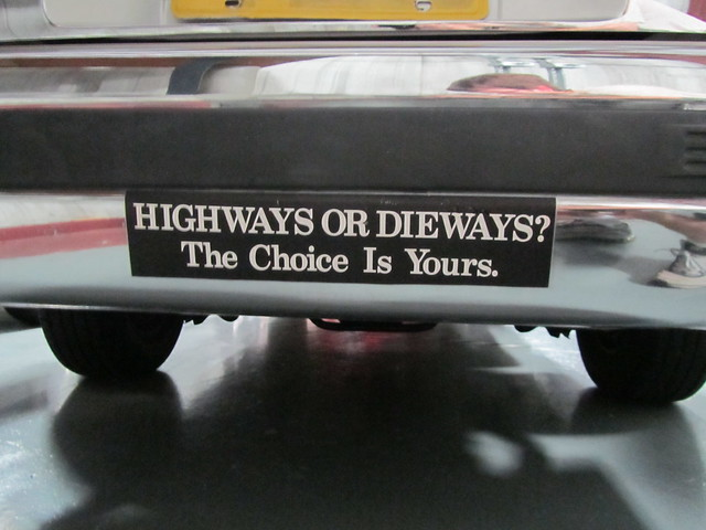 quotHighways or dieways The choice is yoursquot bumper sticker on a former Alachua County Sheriff 1991 Ford Crown Victoria - 427 by FormerWMDriver