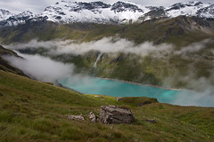 Lac de Moriy as seen from the trail at Rochers de Paris Photo