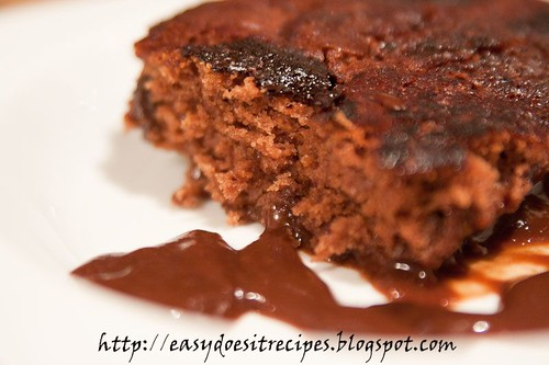 Self saucing chocolate cake