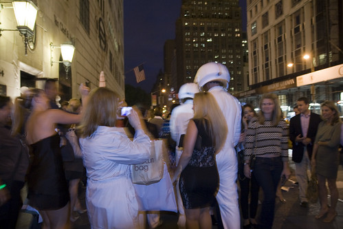 Moon Men walking up 5th Avenue