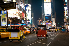 Times Square Taxi Rickshaw (nadia_the_witch) Tags: usa ny newyork america square lights cab taxi eua times rickshaw nuevayork eeuu nadiatwitch nadiathewitch