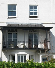 Regency house and balcony (Louise and Colin) Tags: old uk england house building english heritage history beach window architecture bay coast town kent seaside iron britain balcony victorian culture british seafront author ironrailings regency charlesdickens broadstairs vikingbay